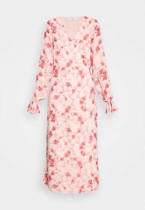 TIE STRAP OVERLAP DRESS - Korte jurk - rose