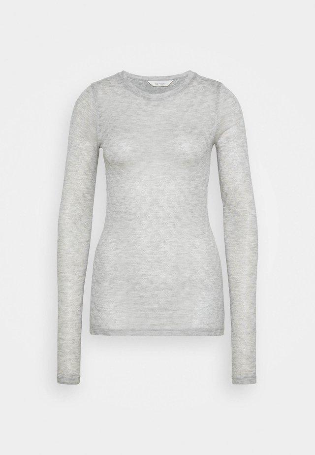 FERMI - Långärmad tröja - light grey melange