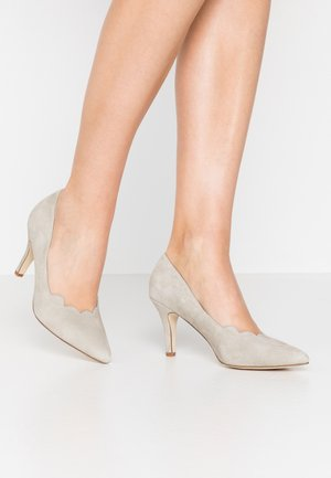 LEATHER - Tacones - grey
