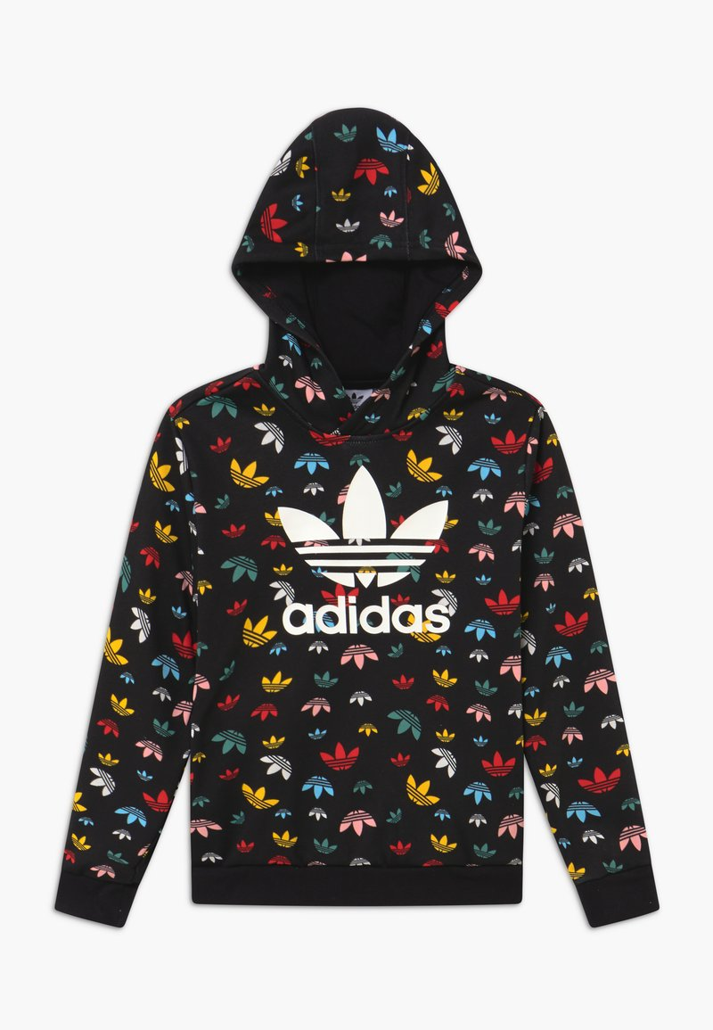 adidas Originals - HOODIE - Jersey con capucha - black/multicolor/white