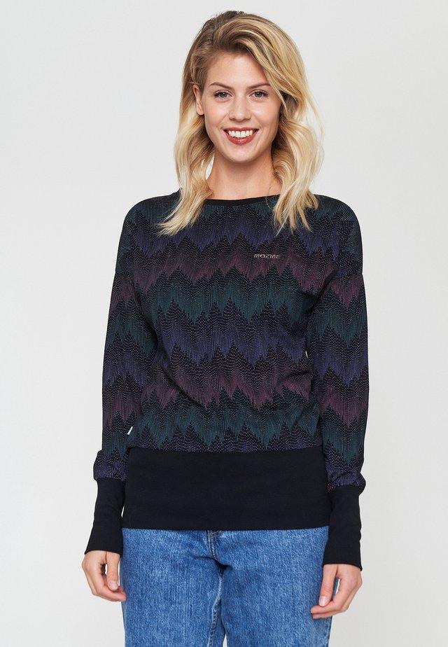 Long sleeved top - black / zigzag