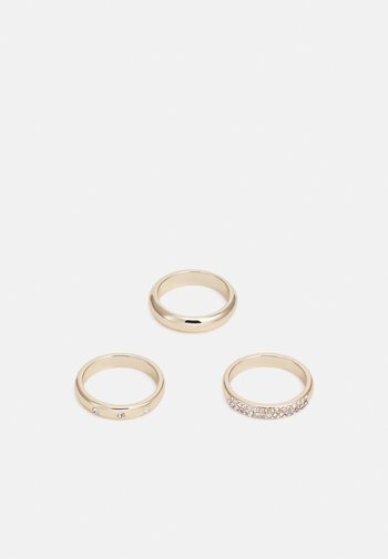 DOWN PAVE CURVED 3 PACK - Pierścionek - gold-coloured