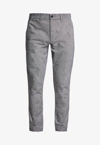 SLIM TEXTURED PANT - Pantalones - charcoal heather