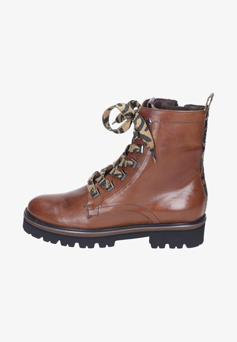 Maripé - Lace-up ankle boots - cognac