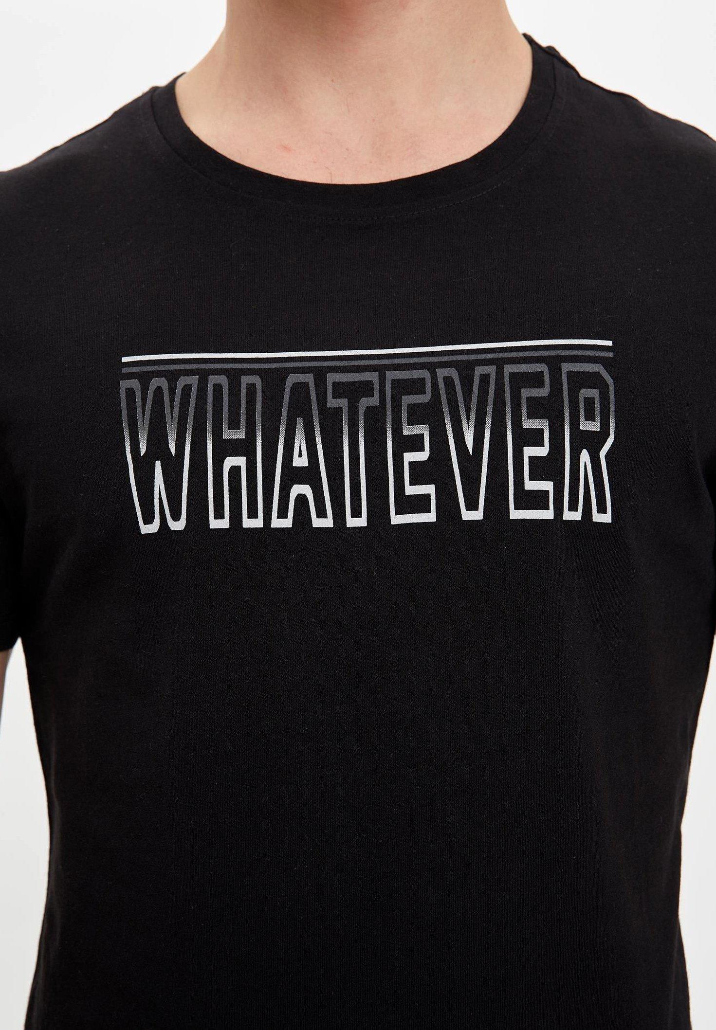 DeFacto Print T-shirt - black XzbAh