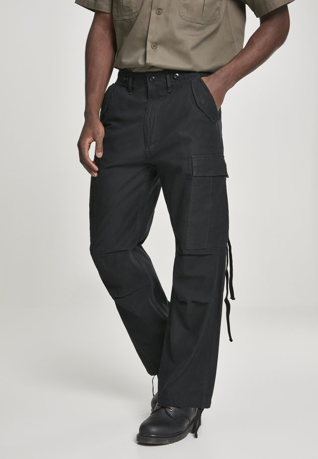 VINTAGE - Cargo trousers - black