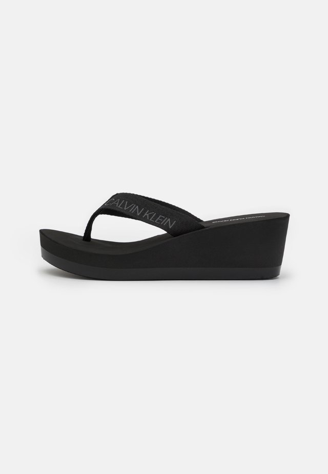 BEACH WEDGE PADDED - Teensandalen - black