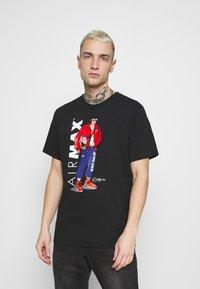 Nike Sportswear - TEE MANGA HYPEMAN - T-shirt med print - black - 0
