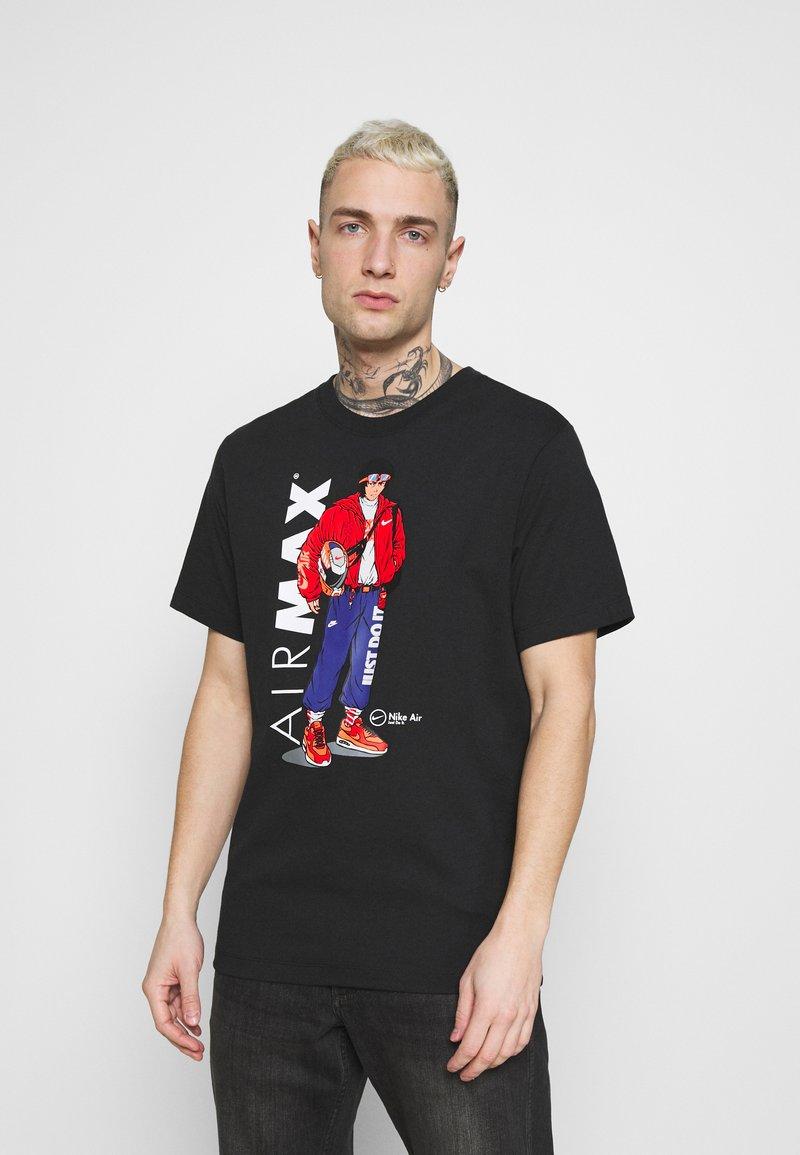 Nike Sportswear - TEE MANGA HYPEMAN - T-shirt med print - black