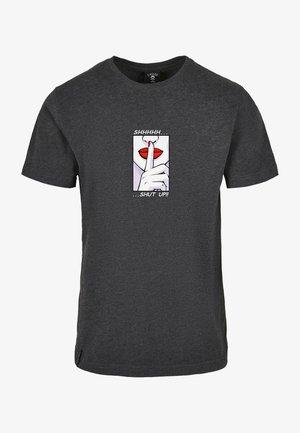 Print T-shirt - charcoal/mc