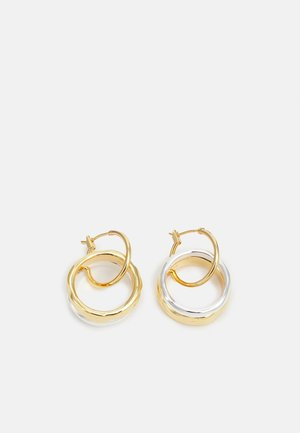 DOUBLE RING HOOPS - Earrings - gold-coloured/silver-coloured