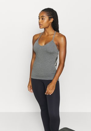 NAMASTE SEAMLESS YOGA - Top - charcoal grey