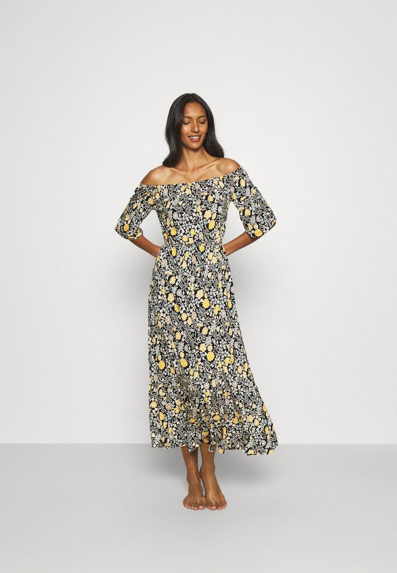 LASCANA - Jersey dress - schwarz/gelb