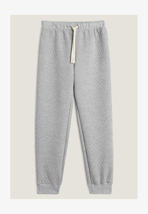 MATELASSÉ MIT BÜNDCHEN - Pyjama bottoms - grigio melange