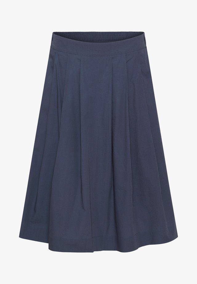 NELLY - Pleated skirt - blue