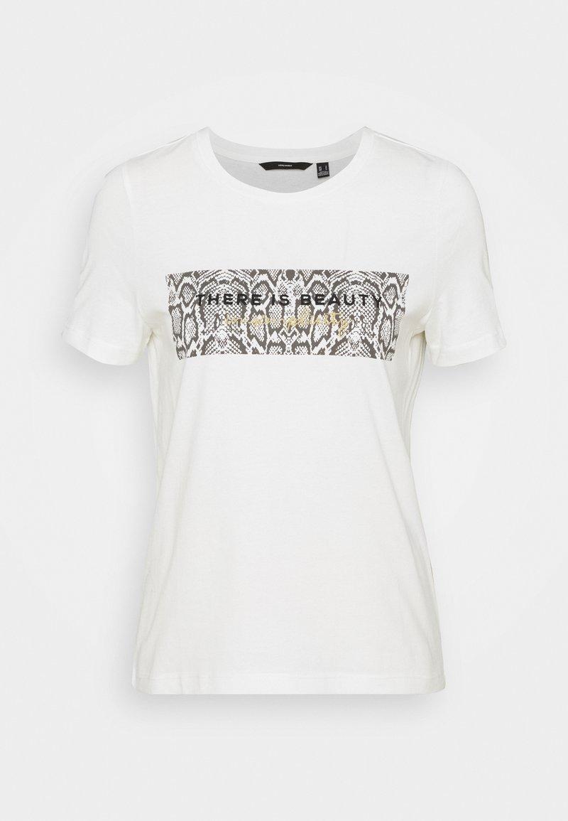 Vero Moda - VMESMAOLLY BOX - Print T-shirt - snow white