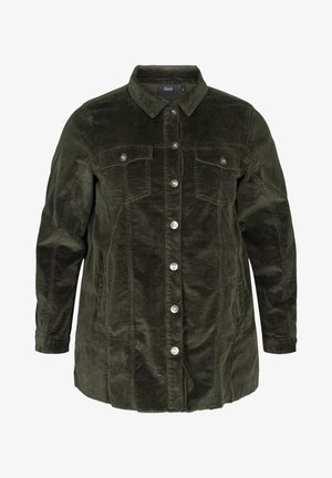 WITH POCKETS - Summer jacket - green