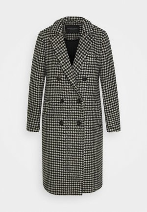 DOUBLE BREASTED TAILORED COAT IN BLEND - Mantel - black
