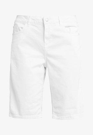 SMART BERMUDA - Denim shorts - white