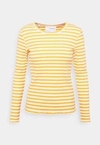 SLFANNA CREW NECK TEE - Long sleeved top - citrus/snow white