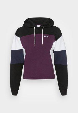 YARA BLOCKED HOODY - Sweatshirt - winter bloom/black/bright white