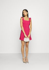 NA-KD - PAMELA REIF X NA-KD FRILL DETAIL MINI DRESS - Day dress - rosewood - 1