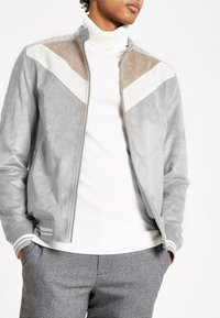 River Island - Faux leather jacket - grey - 0