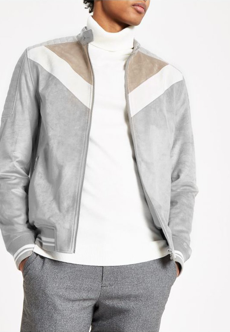 River Island - Faux leather jacket - grey