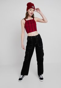 BDG Urban Outfitters - CONTRAST SKATE - Relaxed fit jeans - black - 1