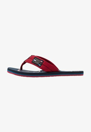 BADGE BEACH - T-bar sandals - red