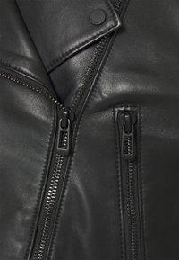 HUGO - LAFERI - Leather jacket - black - 2