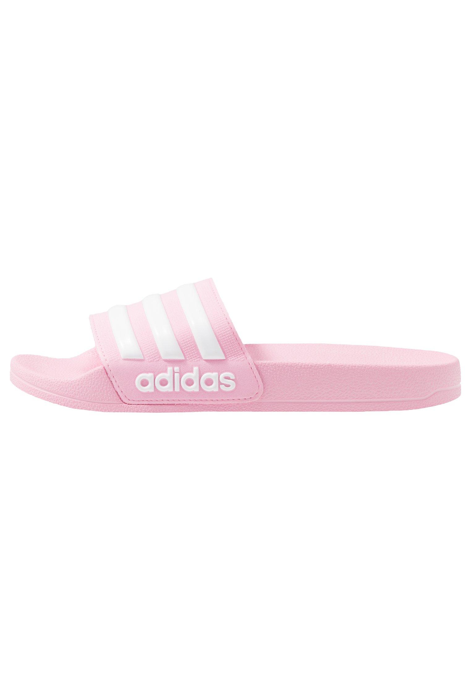 ADILETTE SHOWER UNISEX - Sandales de bain - true pink/footwear white