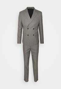 HOUNDTOOTH CROPPED SUIT - Oblek - dark sand