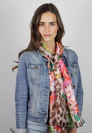 MIT LEO- UND FLOWER-PRINT - Scarf - mehrfarbig