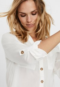 Vero Moda - Button-down blouse - snow white - 4