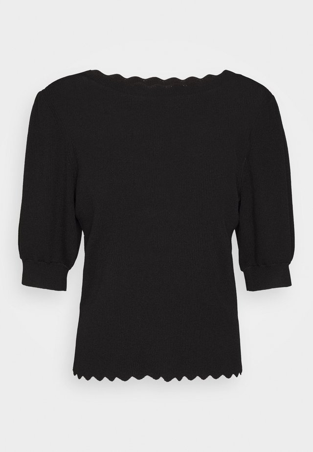 OBJHANNA  - Print T-shirt - black