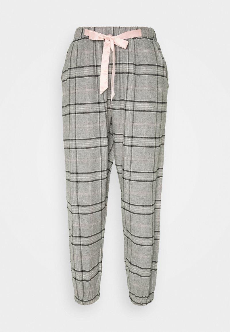 Hunkemöller - PANT CHECK - Pantaloni del pigiama - warm grey melee