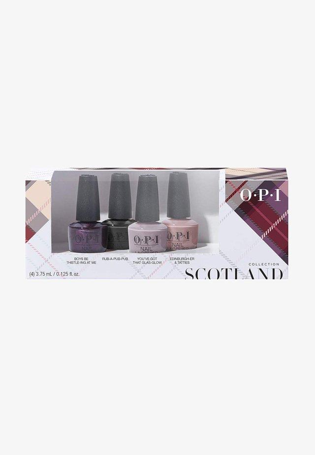SCOTLAND COLLECTION NAIL LACQUER MINI SET - Nail set - dcu01 - good girls gone plaid 4er mini set