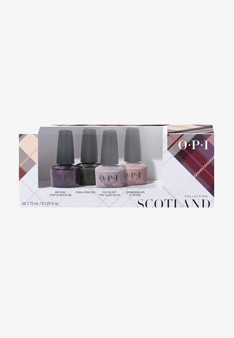 OPI - SCOTLAND COLLECTION NAIL LACQUER MINI SET - Nail set - dcu01 - good girls gone plaid 4er mini set