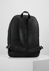 Pier One - LEATHER - Rucksack - black - 2