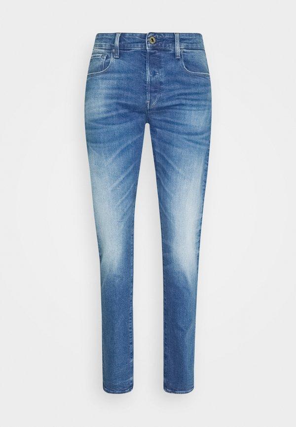 G-Star 3301 STRAIGHT TAPERED - Jeansy Straight Leg - authentic faded blue/niebieski denim Odzież Męska XCEJ