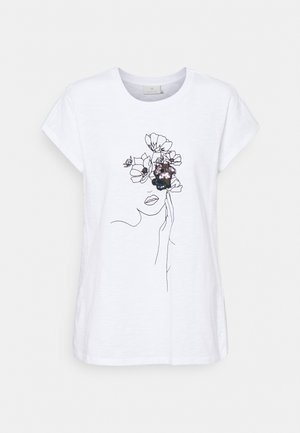 KAMILLY - Print T-shirt - optical white