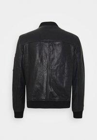 Superdry - Leather jacket - black - 1