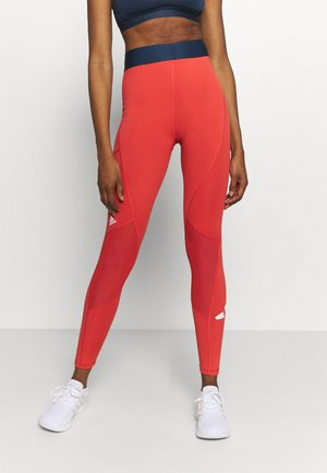 ADILIFE - Leggings - crew red/black/white