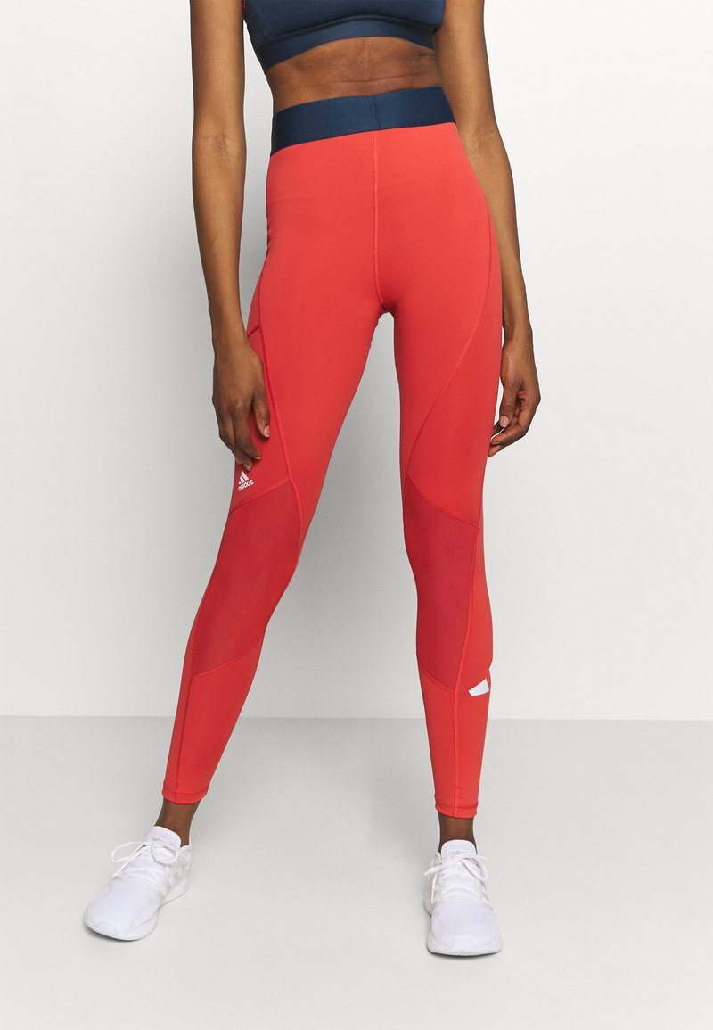 adidas Performance - ADILIFE - Collants - crew red/black/white