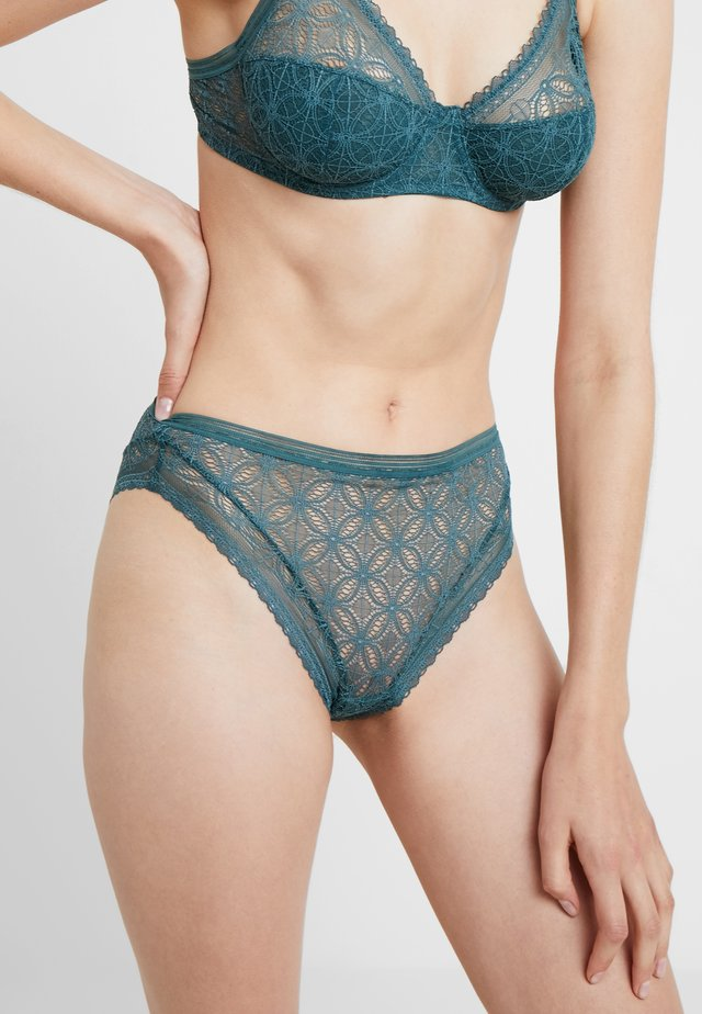 HIGH WAIST BRIEF - Briefs - dark jade
