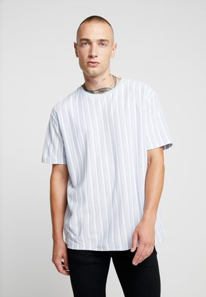 PASTEL STRIPE - T-shirt z nadrukiem - blue