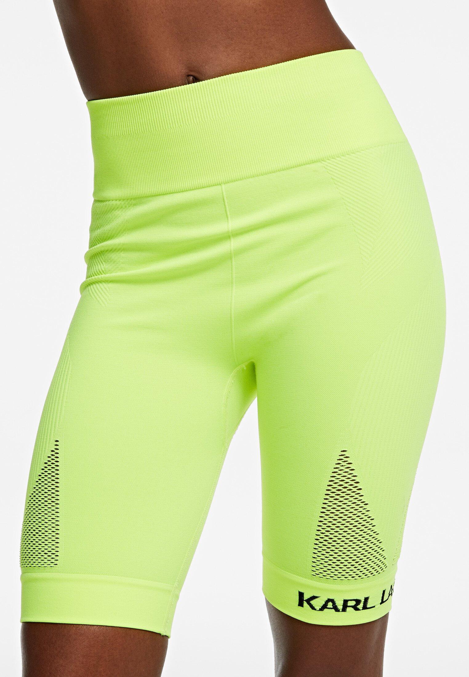 New Style Women's Clothing KARL LAGERFELD Biker  Shorts neon yellow OMBiQZine
