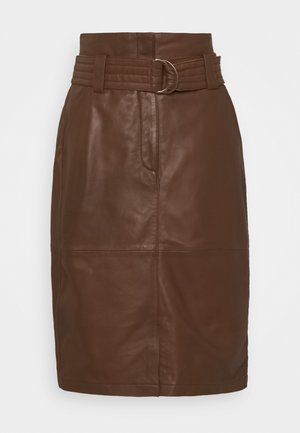 SKIRT - Pencil skirt - golden brown
