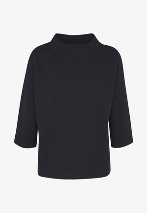 BOXY STAND UP COLLAR - Long sleeved top - sky captain blue
